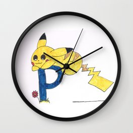 P is for Pika Chu Wall Clock