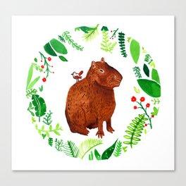 Colin the capybara Canvas Print