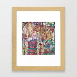 Cascading Ginkgo Framed Art Print