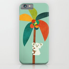 Koala on Coconut Tree iPhone Case