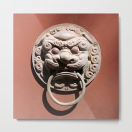 Chinese Door Knocker Metal Print