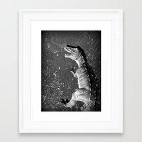 t rex Framed Art Prints featuring t-rex  by Bunny Noir