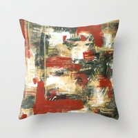 moulin rouge Throw Pillows featuring Rouge by MelissaBeaulieu