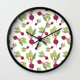 Feel the Beet in Radish White Wall Clock