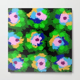 Flowers for Jackson Pollock, Matisse and Van Gogh. Metal Print