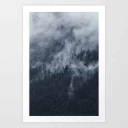 Alpine Misty Forest in Austria Art Print