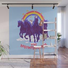 Four Horsemittens Of The Meowpocalypse Wall Mural