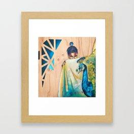 Peacock's Shadow Framed Art Print
