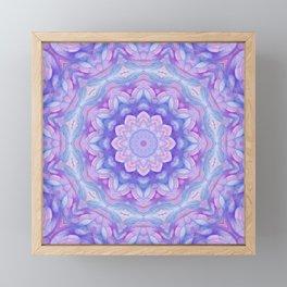 Purple Flower Mandala Framed Mini Art Print