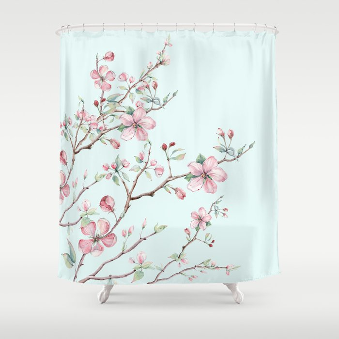 Apple Blossom #society6 #buyart Shower Curtain