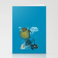 baloon Stationery Cards featuring pufferfish baloon by MR VELA