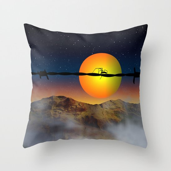 Step out of your comfort zone Throw Pillow