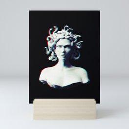 Medusa glitch Mini Art Print