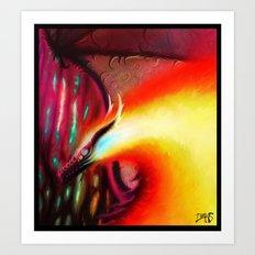 Fire fly Art Print