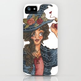 Witch with Tea iPhone Case
