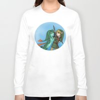 fishing Long Sleeve T-shirts featuring Fishing by Phantasmic Dream