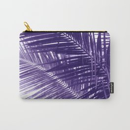 Violet Coco Palm Leaf. Tropical Nature Photo Poster Carry-All Pouch
