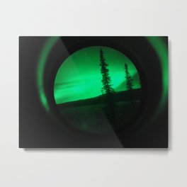 Northern Lights in Fairbanks, Alaska through NVGs Metal Print