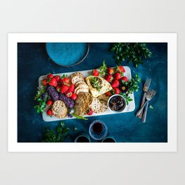 cheese platter Art Print