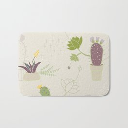 My Potted Cactus Pattern Bath Mat