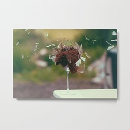 Exploding Chocolate Metal Print