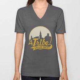 A Tribe Called Quest City Skyline Atcq Hip-Hop Rap Native Tongues Hip Hop T-Shirts Unisex V-Neck