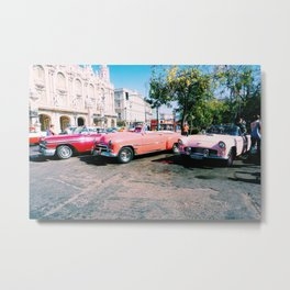 Cuban Taxis Metal Print
