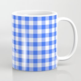 Check Pattern - blue Coffee Mug