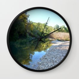 Where Canoes and Raccoons Go Series, No. 18 Wall Clock