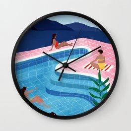 Pool ladies Wall Clock