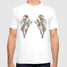 wings Mens Fitted Tee White MEDIUM