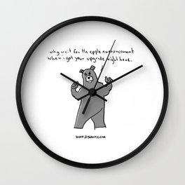 apple announcement Wall Clock