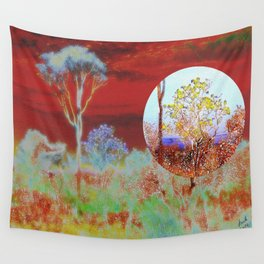 The Planet of the Yellow Flowers 10 Wall Tapestry