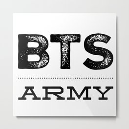 BTS Army Logo Design 2 Metal Print