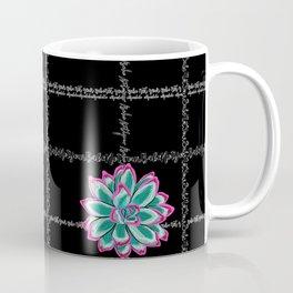 'Not Your Babe' tartan succulent print Coffee Mug