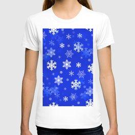 Light Blue Snowflakes T-shirt