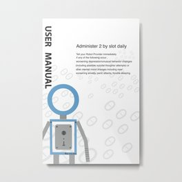 user manual for daily functioning Metal Print