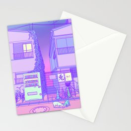 Pastel Tokyo Cats Stationery Cards