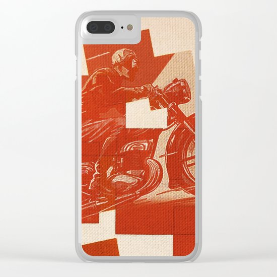 Motorcycle Race II Clear iPhone Case