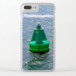 A smart buoy floating in the sea. Clear iPhone Case