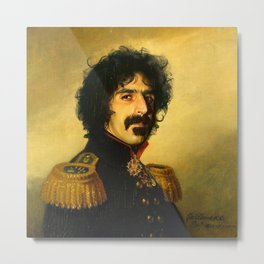 Frank Zappa - replaceface Metal Print