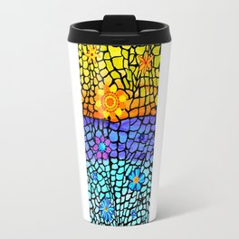 Flower Mosaic Travel Mug