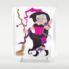 Granny Hex (Purple) Shower Curtain