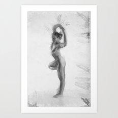 Standing Monika Art Print