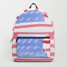 American Flag 4th of July watercolor design Backpack