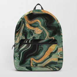 DRAMAQUEEN GOLD EMERALD by Monika Strigel Backpack