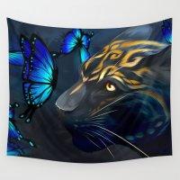beast Wall Tapestries featuring Beautiful Beast by Nojjesz