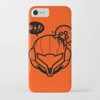 samus iPhone & iPod Cases featuring Samus by La Manette