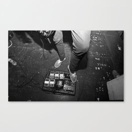 Pedal Board Live Canvas Print