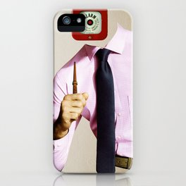 Business Man Alarm iPhone Case